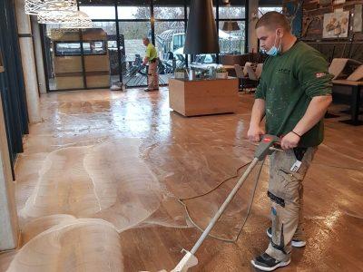 Parkett schleifen - Schleifmaschine - DiCarlo Parkett und Fußbodentechnik