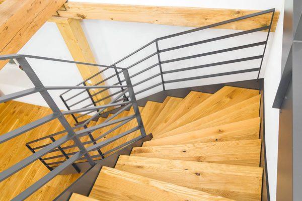 Treppensanierung - Zweiholmtreppe - Ansicht von oben